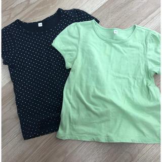 ムジルシリョウヒン(MUJI (無印良品))の無印良品 ★ Tシャツ 2枚セット ★ 100㎝(Tシャツ/カットソー)
