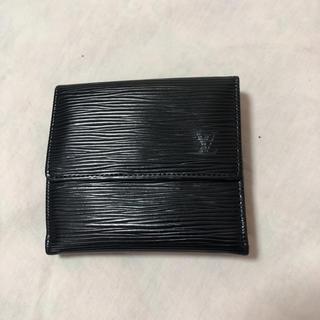 ルイヴィトン(LOUIS VUITTON)のルイ・ヴィトン 2つ折り 財布 黒 エピ 中古(財布)