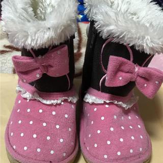 ディズニー(Disney)のミニー ディズニー ムートン ブーツ 13.0cm ピンク(ブーツ)