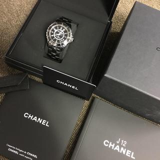シャネル(CHANEL)のANA様専用 他無効 CHANEL 38シャネル J12 箱 カード フルセット(腕時計(アナログ))