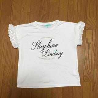 リンジィ(Lindsay)のリンジィ  フリルTシャツ 160 L(Tシャツ/カットソー)