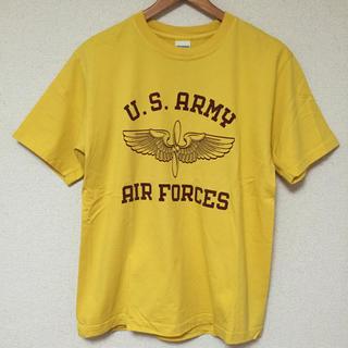 バズリクソンズ(Buzz Rickson's)のアメリカ製 美品 BUZZ RICKSON'S バズリクソンズ Tシャツ 黄 S(Tシャツ/カットソー(半袖/袖なし))