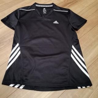 adidas - adidasブラックTシャツ☆レディース