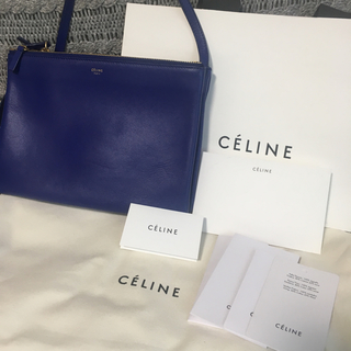 1aff3ab4a33a セリーヌ(celine)のセリーヌ トリオ ◇CELINE◇ ブルー(ショルダーバッグ)