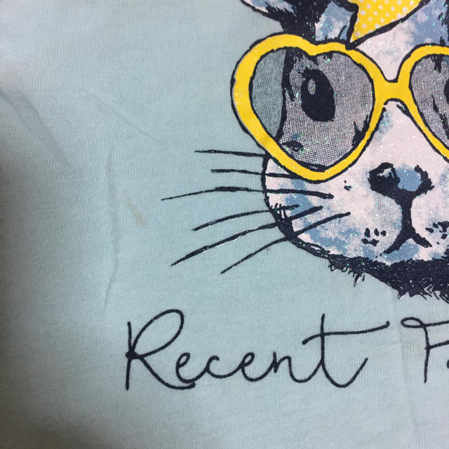 しまむら(シマムラ)の半袖Tシャツ 2枚セット 90〜100 キッズ/ベビー/マタニティのキッズ服 女の子用(90cm~)(Tシャツ/カットソー)の商品写真