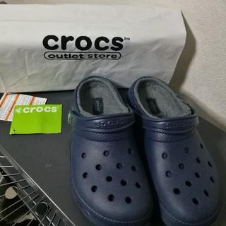 クロックス(crocs)のクロックスブルーシューズ(ローファー/革靴)