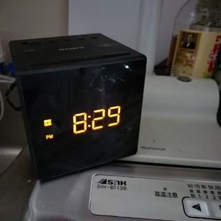 ソニー(SONY)のSONYラジオ時計ICF-C1(ラジオ)