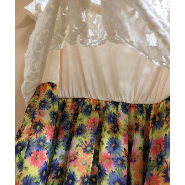 しまむら(シマムラ)のドッキング ワンピース M レディースのワンピース(ひざ丈ワンピース)の商品写真