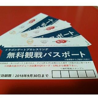 【3枚セット】ドラゴンゲート プロレスリング 無料観戦パスポートチケット(格闘技/プロレス)