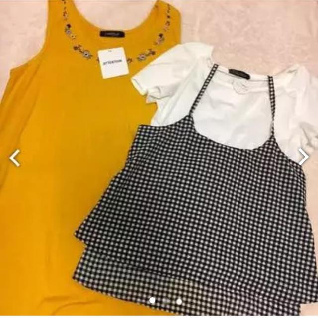 しまむら(シマムラ)のコーデ キャミソール Tシャツ レディースのレディース その他(セット/コーデ)の商品写真