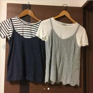 シマムラ(しまむら)のコーデ キャミソール Tシャツ(セット/コーデ)
