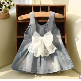 【新品】韓国子供服 子供服 デニム ワンピ オーバーオール ジャンパースカート(ワンピース)