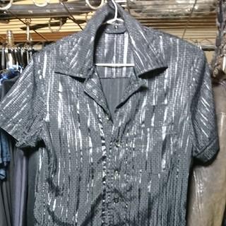 ゴーサンゴーイチプールオム(5351 POUR LES HOMMES)の5351プールオム ドット シャドーストライプ 半袖シャツ 美品  (シャツ)