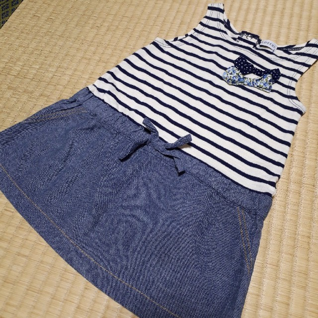 しまむら(シマムラ)のしまむら 90ワンピース キッズ/ベビー/マタニティのキッズ服 女の子用(90cm~)(ワンピース)の商品写真