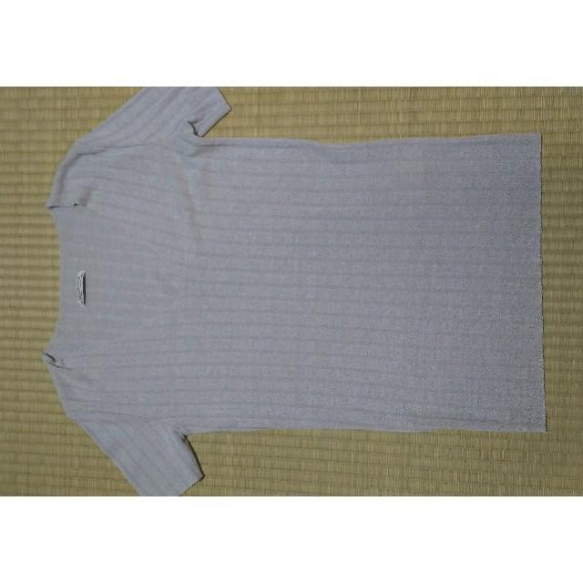 ZARA(ザラ)のZARA リブニット 半そで レディースのトップス(カットソー(半袖/袖なし))の商品写真