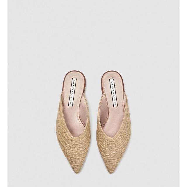 ZARA(ザラ)のZARA 編み込みミュール 完売品 37 レディースの靴/シューズ(サンダル)の商品写真
