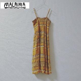 マライカ(MALAIKA)のMALAIKA マライカ リゾート ワンピ ロングワンピース(ひざ丈ワンピース)