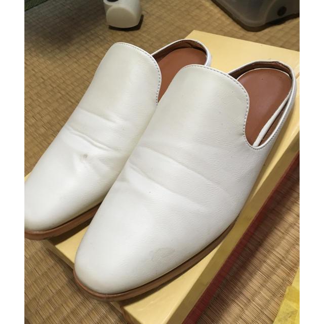 GU(ジーユー)のGU 白レーザースリッポン レディースの靴/シューズ(スリッポン/モカシン)の商品写真