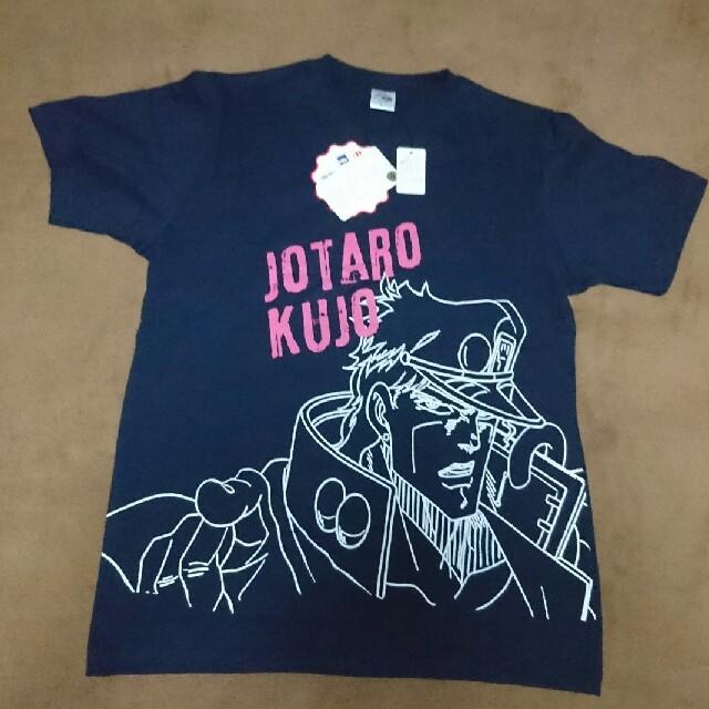 しまむら(シマムラ)のジョジョの奇妙な冒険 しまむら  Tシャツ サイズ L ネイビー 空条承太郎 メンズのトップス(Tシャツ/カットソー(半袖/袖なし))の商品写真