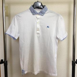 バーバリーブラックレーベル(BURBERRY BLACK LABEL)の美品 バーバリーブラックレーベル クレリックポロシャツ サイズ2(ポロシャツ)