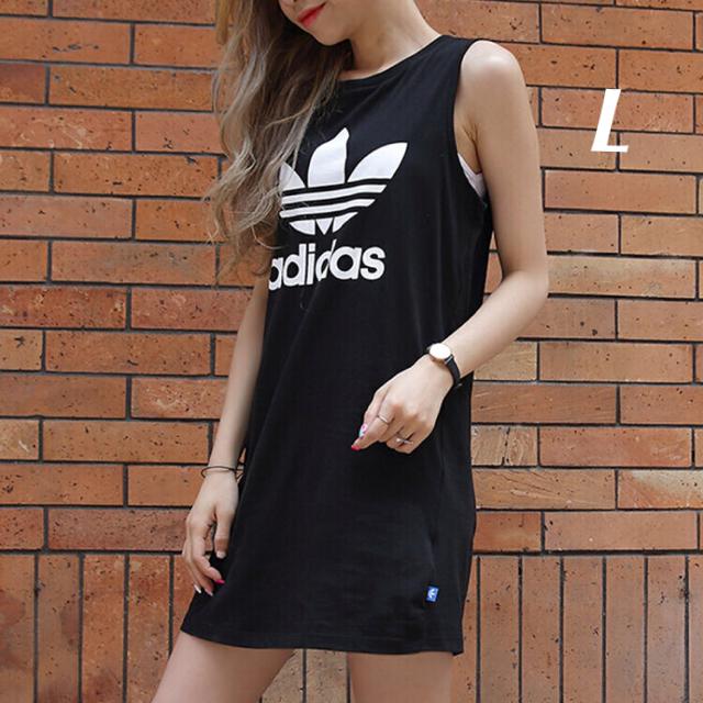 adidas(アディダス)のL size  黒 ワンピース  アディダスオリジナルス レディースのワンピース(ミニワンピース)の商品写真