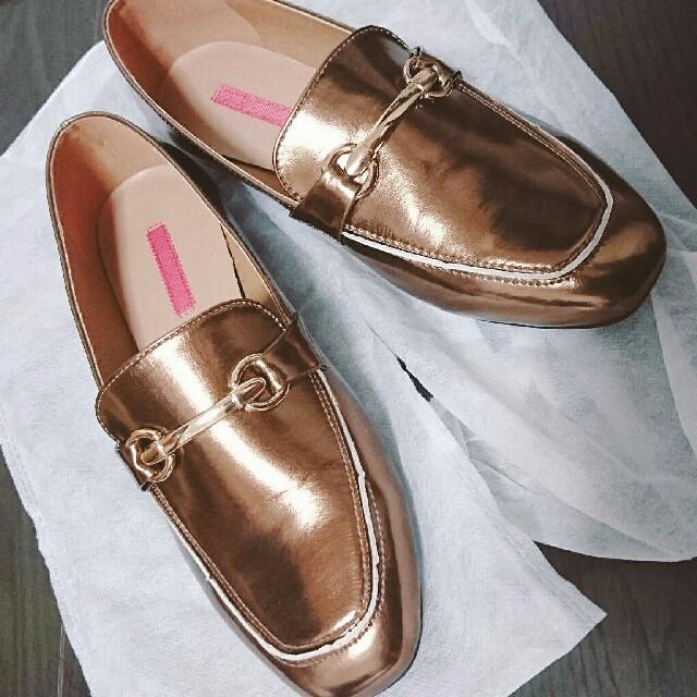 mystic(ミスティック)のmystic メタリックローファー レディースの靴/シューズ(ローファー/革靴)の商品写真