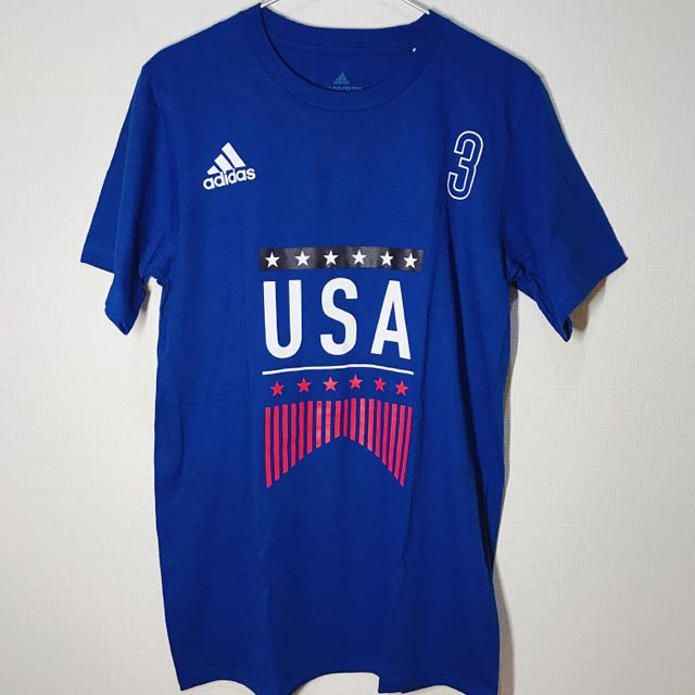 adidas(アディダス)のadidas アディダス Tシャツ 半袖 ブルー USA メンズ 新品 メンズのトップス(Tシャツ/カットソー(半袖/袖なし))の商品写真