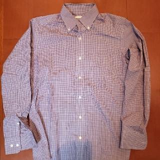 ジーユー(GU)のギンガムチェック柄 長袖ワイシャツ(シャツ)