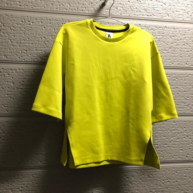 NIKE(ナイキ)のNIKELAB テックフリース ライム 七分袖 ナイキラボ ラボ テック 黄色 レディースのトップス(トレーナー/スウェット)の商品写真