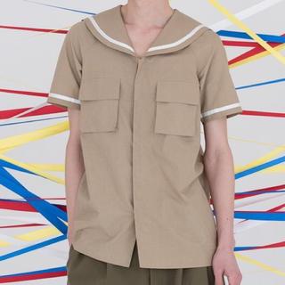 ミュベールワーク(MUVEIL WORK)のha|za|ma 夏かしのセーラーカラーシャツ(シャツ/ブラウス(半袖/袖なし))