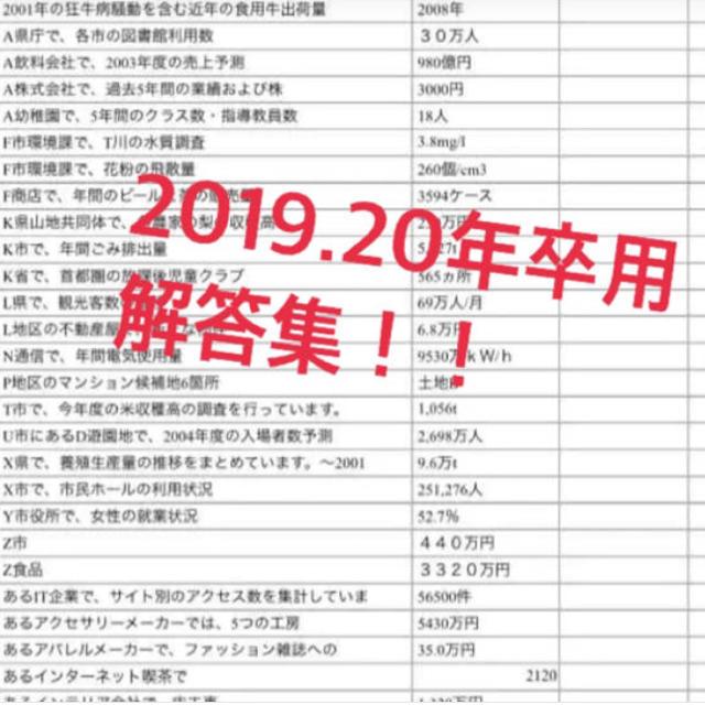 2019.20年卒用webテスト解答集 エンタメ/ホビーの本(参考書)の商品写真