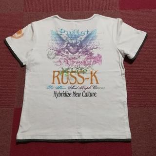 ラスケー(RUSS・K)のRUSS-K  Tシャツ 半袖 白 M(Tシャツ/カットソー(半袖/袖なし))