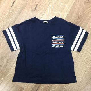 GU - GU ビッグ Tシャツ ネイビー 120
