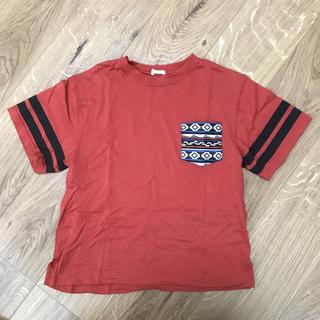 ジーユー(GU)のakitty様*GU ビッグ Tシャツ レッド 140(Tシャツ/カットソー)