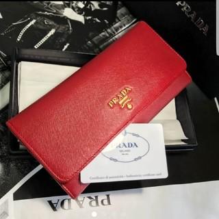 プラダ(PRADA)のPRADA☆赤長財布(財布)