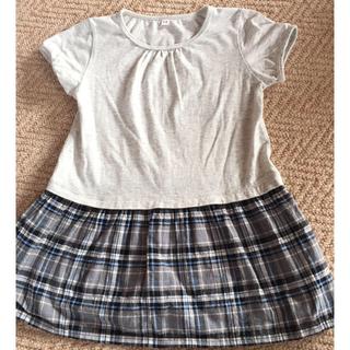ムジルシリョウヒン(MUJI (無印良品))の無印良品 女の子 チュニック 110㎝(Tシャツ/カットソー)