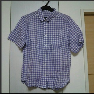ジーユー(GU)のギンガムチェック☆シャツ(シャツ/ブラウス(半袖/袖なし))