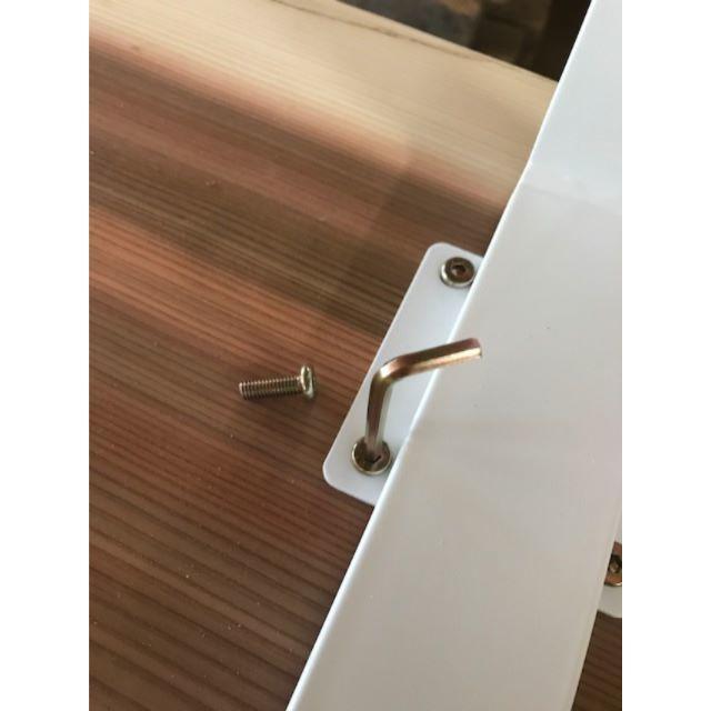 限定1セット!国産杉の一枚板 アイアンレッグ テーブル インテリア/住まい/日用品の机/テーブル(ダイニングテーブル)の商品写真
