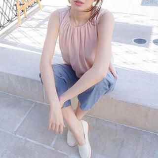 ドゥファミリー(DO!FAMILY)のドゥファミリィ エステルジョーゼットノースリーブシャツ ピンク(カットソー(半袖/袖なし))
