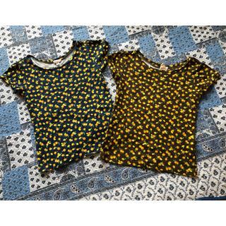 チッカチッカブーンブーン(CHICKA CHICKA BOOM BOOM)の綿100%、チカチカブンブンのレモン柄Tシャツ、セットで!(Tシャツ(半袖/袖なし))