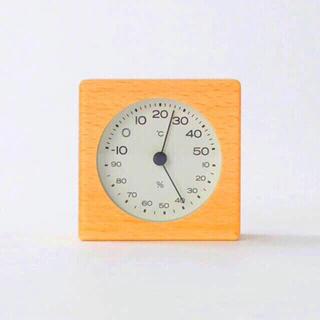 【新品】MUJI ブナ材温湿度計