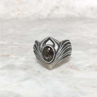 正規品 クロノス 指輪 リング シルバー ラインストーン 石 銀 ブラック 黒(リング(指輪))