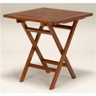 木製ガーデンテーブル/アウトドアテーブル 【正方形/幅70cm】 折りたたみ式 (その他)