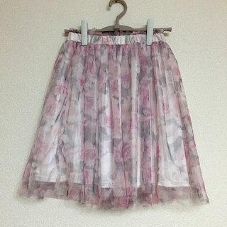 【売り切れました♡】グレイル 花柄 チュールスカート(ひざ丈スカート)