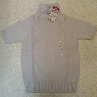 ムジルシリョウヒン(MUJI (無印良品))の新品 無印良品 コットン100% 半袖タートルセーター(ニット/セーター)