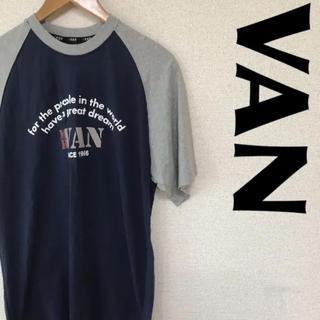 ヴァンヂャケット(VAN Jacket)のMR.VAN ヴァン US古着 Tシャツ デカロゴ 0614(Tシャツ/カットソー(半袖/袖なし))