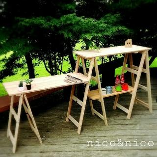 キャンプキッチン(テーブル/チェア)
