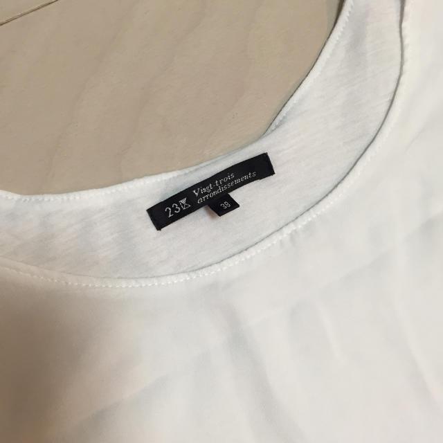 23区(ニジュウサンク)の23区 シフォンカットソー  レディースのトップス(カットソー(半袖/袖なし))の商品写真