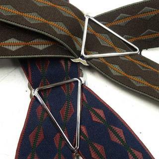 日本縫製 サスペンダー ベルギーゴム ダイヤライン インポート ズボン吊り(サスペンダー)