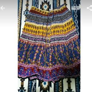 マライカ(MALAIKA)のエスニック風スカート 民族柄(ひざ丈スカート)